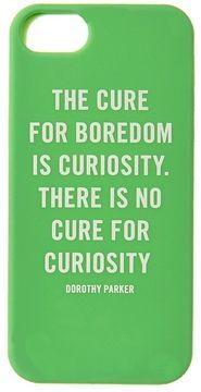 Let's go exploring! Kate Spade Curiosity Quote Phone Case