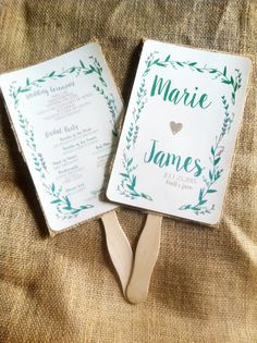 Handrawn Rustic Floral Green and Gray Wedding by Rusticpapers