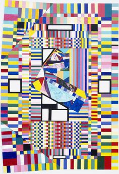 'Inspired by Delaunay' Mosic Painting March 3, 1992, © Lucas Samaras, courtesy Pace Gallery / Photo by: Bill Jacobson