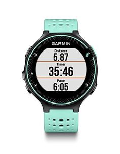 Garmin Forerunner 235 (Frost Blue) GIFT BOX Bundle | Includes Glass Screen Protectors, PlayBetter USB Car/Wall Adapters, Protective Case, Black Gift Box | GPS Running Watch, Wrist-Based Heart Rate   WHAT'S INCLUDED IN THE GIFT BOX?: -Garmin Forerunner 235 (Frost Blue) GPS Running Watch -Tempered Glass Ultra-Clear Screen Protectors (2-Pack