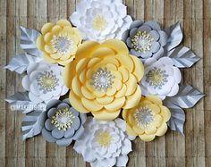 Flores de papel, Rosas de papel, Flores para fiesta, Flores