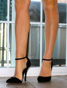 ASOS Black Ankle Strap Heels. My favorite heel I own!