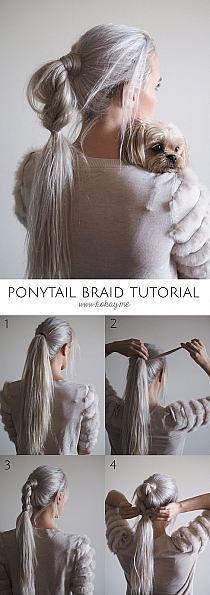 Ponytail Braid Tutorial #Ponytail #Braided