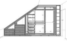Attic Bedroom Storage, Attic Bedroom Designs, Loft Storage, Bedroom Closet Design, Attic Rooms, Attic Spaces, Closet Bedroom, Attic Master Bedroom, Eaves Storage