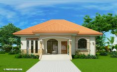 This Three Bedroom Bungalow House Design is 140 square meters in total floor area. This includes the porch and lanai at the back. Design to be single detached, Simple Bungalow House Designs, Bungalow Style House, Bungalow Haus Design, Bungalow House Plans, Small House Design, 3 Bedroom Bungalow, Bungalow Homes, Model House Plan, My House Plans