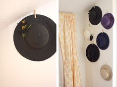 How-To Display Hat Collection (with the hope of actually wearing them more...)