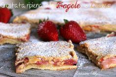 Crostata ripiena di Fragole e Crema