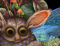 My Works, Rooster, Owl, Fairy, Graphic Design, Creative, Illustration, Animals, Animales