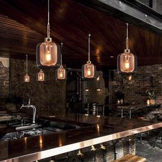 Industrialna LAMPA wisząca BESSA LDP 11337B(BR) Lumina Deco szklana OPRAWA zwis loft siatka drut miedziany przezroczysty