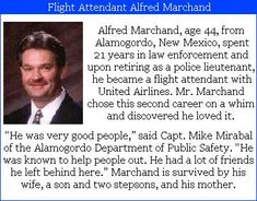 "Alfred G. Maryland- 44, flight attendant on United Airlines #flight175. Alfred spent 21 years in law enforcement before retiring and starting a new career as a flight attendant.  His friend, Connie Lane said ""He just decided to do something really different. It really surprised us."" Check out the #project2996 tribute at http://kjw-today.blogspot.de/2011/08/alfred-g-marchand-91101.html #9/11"