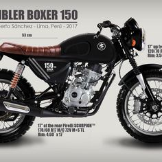 No photo description available. Tracker Motorcycle, Cafe Racer Motorcycle, Custom Bmw, Custom Bikes, Honda Tool 125, Boxer, Brat Bike, Mitsubishi Galant, Cafe Racing