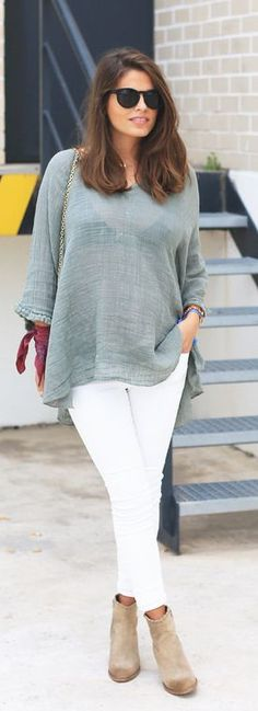 Neutral Boho Chic Streetstyle by Seams For a Desire