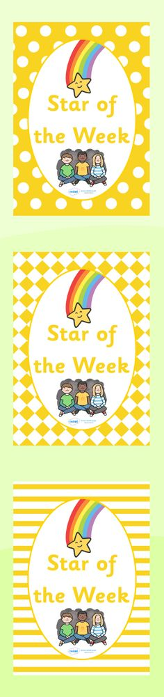 A4 Star of the Week Divider Covers