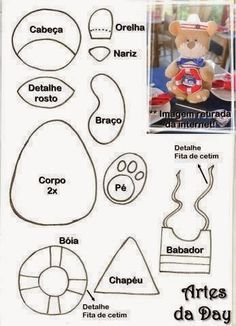 ARTESANATO COM QUIANE - Paps,Moldes,E.V.A,Feltro,Costuras,Fofuchas 3D: molde marinheiro