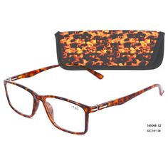 Eso Vision 165068 C2 high quality 2016 reading glasses attach pouch color orange full  frame