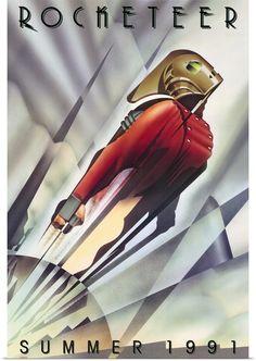 The Rocketeer Movie Art Deco Poster Diesel Punk, Best Movie Posters, Movie Poster Art, Cool Posters, Posters Vintage, Retro Poster, Rocketeer Movie, Deco New York, Science Fiction