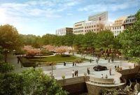 Der Corneliusplatz soll an den Rändern zur Kö je eine Kastanienbaumreihe erhalten, ansonsten wird er so gestaltet wie früher. Fertig wird er aber wohl erst 2016.