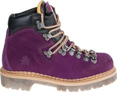 Now these are the type of hiking boots that a high-heel kinda girl would buy...purple!  :)