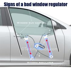 Signs of a bad window regulator, window run channel, replacement cost Truck Repair, Auto Glass, Car Parts, Motor Car, Cleaning Hacks, Audi, Automobile, Garage, Channel