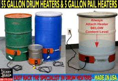 55 Gallon Drum Heaters & 5 Gallon Pail Heaters For Sale