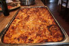 Lasagna cooked to perfection in the Fontana Forni Oven. www.fontanaforniusa.com