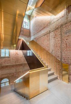Brass Clad Staircase • Fondaco dei Tedeschi • Venice • OMA • 2016