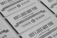 Bobby Bullen Business Card Design. 30 Business Card Designs with Bold Type #typography #businesscard
