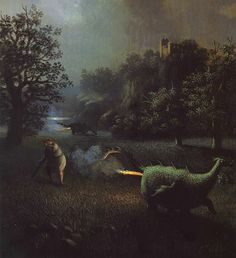Farting dragons. There was fire alright...Michael Sowa German Artist ~ Blog of an Art Admirer