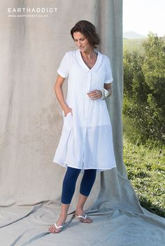 Being inspired by everything nautical. White Plum, Yoga Tips, Summer Collection, Color Inspiration, Nautical, Tunic Tops, Shirt Dress, Yellow, My Style
