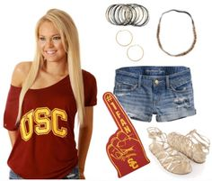 USC fashion at its best! Can find most of these items on Fanatics.com's site! #UltimateTailgate #Fanatics