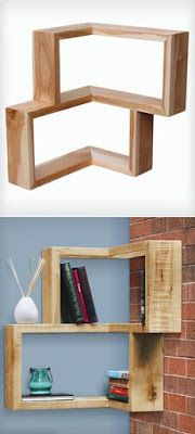 projects idea of corner wall shelving. 13 AMAZING SHELVES  Home Interior Designs Pallet ProjectsPallet IdeasPallet Corner Box Shelf shelves Shelves and