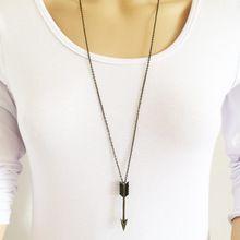 Nova moda jóias cadeia longa seta colar pingente presente para as mulheres menina N1763(China (Mainland))