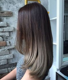 Chocolate Beige-Grey Ombre Hair Ideas