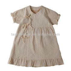 100% organic cotton baby dress , baby wear, baby clothes