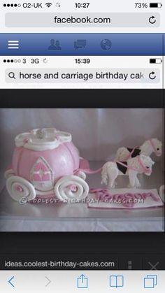Horse & carriage cake