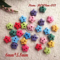 1000pcs Mixed 6mm Mini Tiny Heart Shape Buttons Plastic Sewing Doll Clothes 2 Ho