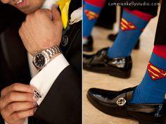 superman wedding ideas   Phoenix Bride & Groom Magazine Blog » Blog Archive » superman-socks