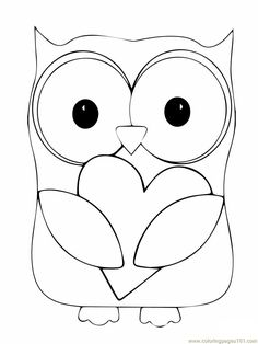 owl coloring page | Coloring Pages Owl (Birds > Owl) - free printable coloring page online
