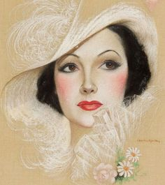 Charles Gates Sheldon : Dolores Del Rio 1934 (close detail)