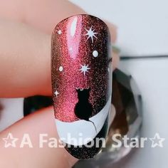 Here is a tutorial for an interesting Christmas nail art Silver glitter on a white background – a very elegant idea to welcome Christmas with style Decoration in a light garland for your Christmas nails Materials and tools needed: base… Continue Reading → Nail Art Designs Videos, Nail Art Videos, Gel Nail Designs, Nails Design, Nagel Stamping, Cat Eye Nails, Painted Nail Art, Hand Painted, Pretty Nail Art
