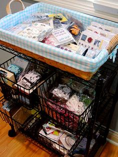 Use Freestanding Storage Units for Easy Scrapbooking