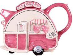 Pink Caravan #Teapot