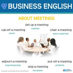 Business English 'About meetings' - Repinned by Chesapeake College Adult Ed. We offer free classes on the Eastern Shore of MD to help you earn your GED - H.S. Diploma or Learn English (ESL) . For GED classes contact Danielle Thomas 410-829-6043 dthomas@chesapeke.edu For ESL classes contact Karen Luceti - 410-443-1163 Kluceti@chesapeake.edu . www.chesapeake.edu