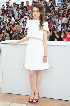 Astrid Berges-Frisbey I'm pretty sure all she wears is Chanel:)