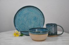 Made to Order, Pottery Dinnerware, Place Setting, Dinner Plates and Bowls, Pottery, Dinnerware, Wheel Thrown Pottery, Handmade Pottery by ShawnaPiercePottery on Etsy