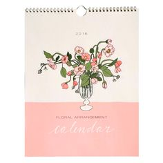 2016 Floral Arrangement Calendar by Hartland Brooklyn