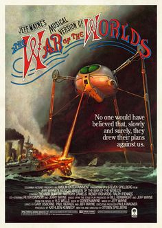 Mock-up movie poster for Jeff Wayne's Musical Version of The War of the Worlds.