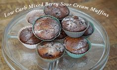 Low Carb Mixed Berry Sour Cream Muffins *yields 15 muffins Ingredients 2 cups almond flour 1/4 cup Swerve (erythritol) 1/2 tsp baking soda 1/2 tsp salt (if you're using unsalted butter) 2 large eggs 1 cup sour cream 2 tbsp melted unsweetened grass-fed butter (you can also use regular butter, but if you do, don't add the extra salt) 1 1/2 cups …