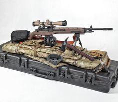 You need Crazyhorse in your life! This is the M14SE Crazyhorse Semiautomatic sniper system with Leupold Optics riflescope. We also added the X Products X14 drum. Winkler Knives  Gun Point retention tool  hatchet.