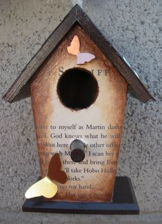 Decorative Bird House with Brass and Copper by turtleshell03, $20.00